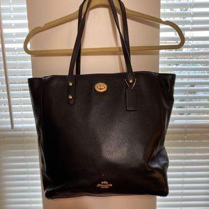 Black Coach purse w/ gold detailing
